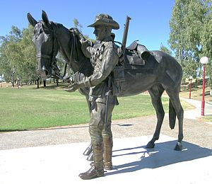 Waler horse - Memorial to the Australian Light Horse, Tamworth, NSW