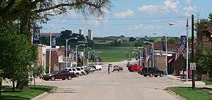 Walthill, Nebraska - Downtown Walthill: Main Street, looking east