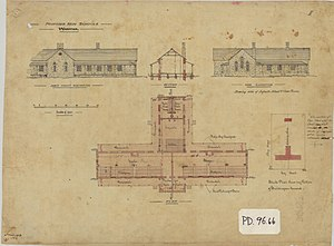 History of state education in Queensland - Architectural plans for Warwick Central School