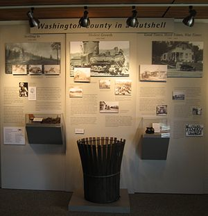 Washington County Museum - Inside the museum's exhibit space at PCC in 2007