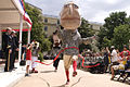 Washington Nationals' presidential mascots race in the Pentagon courtyard during a celebration for the U.S. Army's 237th birthday June 14, 2012 120614-A-TT930-005.jpg