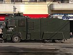 Water cannon used by Chilean riot police in Valparaiso in 2013.jpg