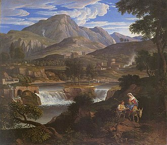 Joseph Anton Koch - Waterfalls at Subiaco (1812-1813).