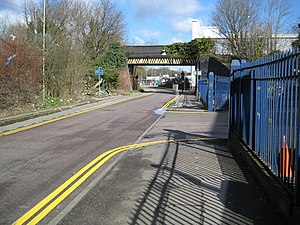 Cassiobridge tube station - View looking north towards the site of the planned station (right)