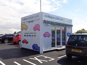 We Buy Any Car - We Buy Any Car office in Asda car park at Middleton, Leeds.