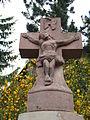 Wegekreuz Niedergailbach Bischof-Weiß-Str. im Gelbachtal, Detail Kreuz.JPG