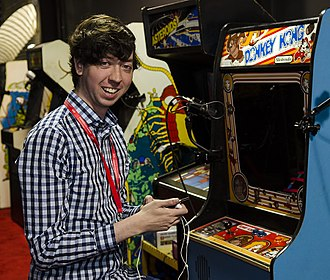 Donkey Kong (video game) - Wes Copeland at the Twin Galaxies Entertainment Expo in Banning California