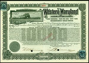 Western Maryland Railway - Western Maryland Rail Road Company gold bond, issued 1917