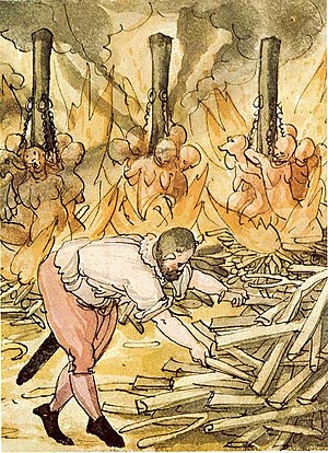 Execution of alleged witches, 1587