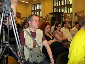 Wiki Party in Moscow 2013-05-18 (Press conference; Krassotkin; 12).JPG
