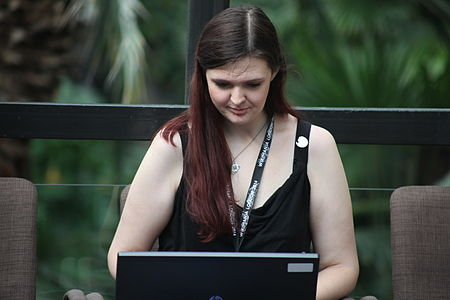 Wikimania 2014 - Day 1 - Hackathon participant.JPG