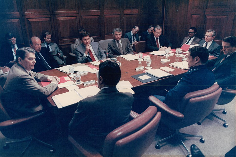 William Flynn Martin at National Security Council meeting
