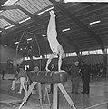 Willy Jager kampioen turnen van Nederland, aan paard, Bestanddeelnr 914-5692.jpg