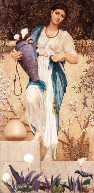 Thomas Armstrong (painter) - Woman with Lilies, 1876, Thomas Armstrong