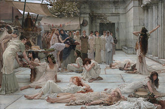 Amfissa - Women of Amfissa, by Lawrence Alma-Tadema and Laura Theresa Alma-Tadema (1887).