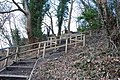 Wooden steps from Riverside Road to The Bar Castle Hill - geograph.org.uk - 1135143.jpg