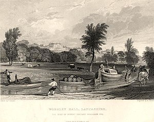 Worsley New Hall - Brick Hall in 1833