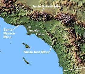 Santa Ana Mountains Wikipedia - Map of united states with mountains