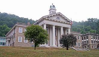Pineville, West Virginia - The Wyoming County Courthouse in Pineville
