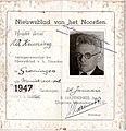 Wytze Keuning perskaart 1947.jpg