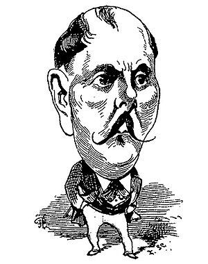 Xavier de Montépin - Caricature of Xavier de Montépin from Le Trombinoscope  1875