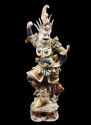 Tang dynasty tomb figures - Lokapala guardian figure
