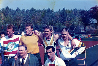 Australia at the 1988 Summer Paralympics - Image: Xx 1088 4X400m gold medal relay team 3b scan