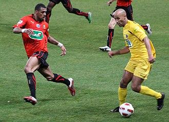 Yann M'Vila - M'Vila (left) scored his first professional goal in the Coupe de France against Cannes in 2011