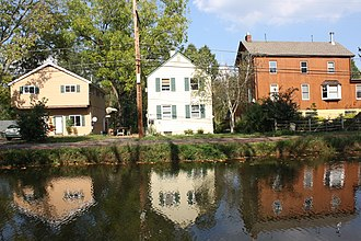 Pennsylvania Canal (Delaware Division) - The canal in Yardley.