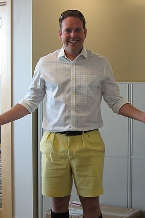 Shorts - Yellow Bermuda shorts