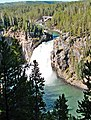 Yellowstone, Crittenden Bridge and Upper Falls 9-11 (14751454025).jpg