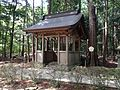 Yohaijo Hall for Mine Shrine (Okunomiya) of Oasahiko Shrine.JPG