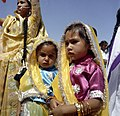 Young Girls at Arrival Ceremony for First Lady Jacqueline Kennedy in Jaipur, India.jpg