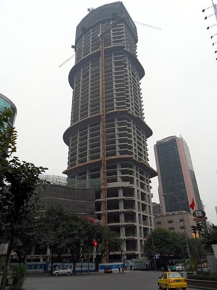 Chongqing Poly Tower under construction
