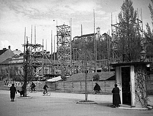 National and University Library of Slovenia - Early phases of construction of the library building (1937)