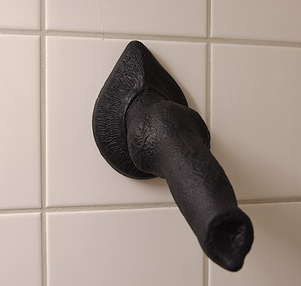 Several companies (e.g., Bad Dragon) sell dildos in the shape of animal penises, both realistic and fantastical. This one is based on a wolf's penis. - Zoophilia
