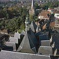 Zicht op de daken van het koor en de dakruiter, op de achtergrond de Drogenapstoren - Zutphen - 20373704 - RCE.jpg