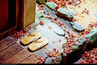 flat, thonged Japanese sandal