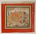 """Rustam's First Course- Rakhsh Kills a Lion"", Folio from a Shahnama (Book of Kings) MET sf20-120-246.jpg"