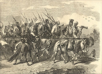 "Tantia Tope - ""Tantia Topee's Soldiery"" Illustrated London News, 1858"