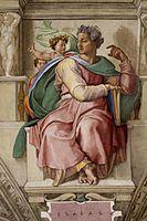 'Isaiah Sistine Chapel ceiling' by Michelangelo JBU36.jpg
