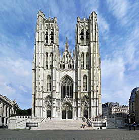 (Belgium) St. Michael & St. Gudula Cathedral Tower, Brussels.jpg