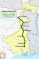 (Howrah - Katihar) Intercity Express route map.png