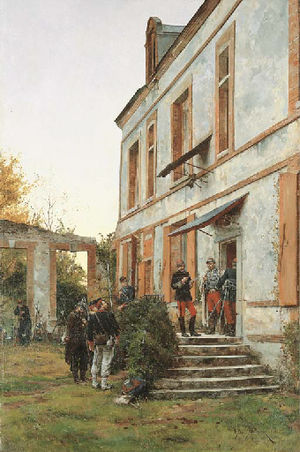 Étienne-Prosper Berne-Bellecour - Image: Étienne Prosper Berne Bellecour Soldiers resting