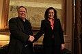 Συνάντηση ΥΠΕΞ Ν. Κοτζιά με πρώην ΥΠΕΞ Ντόρα Μπακογιάννη (ΥΠΕΞ, 04.02.2015) (16258052117).jpg