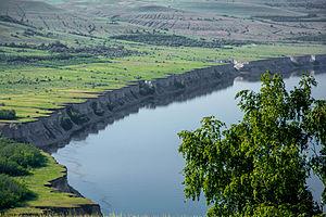 Rill - Landscape shaped by erosion rill. Volgograd Oblast, Russia.