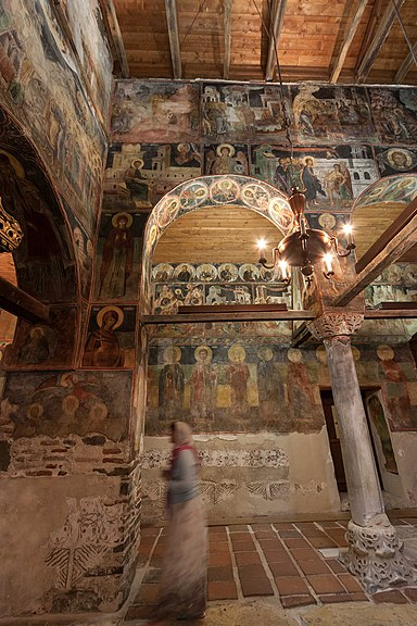 Несебыр Церковь Св Стефана Интерьер СевероЗападный угол Наоса