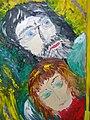 Нина Горланова с мужем. Двойной портрет. Масло. 2004.jpg