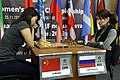 Цзюй Вэньцзюнь - Екатерина Лагно, ЧМ по шахматам среди женщин 2018.jpg