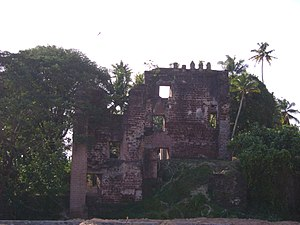 Portuguese India - Remnants of St. Thomas Fort in Tangasseri, Kollam city